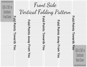 Front Side Vertical Folding Pattern for Mini-Photo BOok