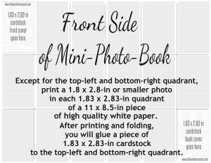 Front Side of Mini-Photo-Book Layout