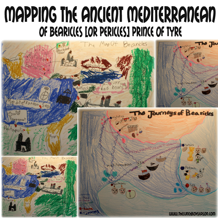 Mapping the Ancient Mediterranean of Bearicles [or Pericles] Prince of Tyre
