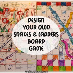 March Break Ideas Design Your Own Snakes and Ladders [Chutes and ladders] Board Game