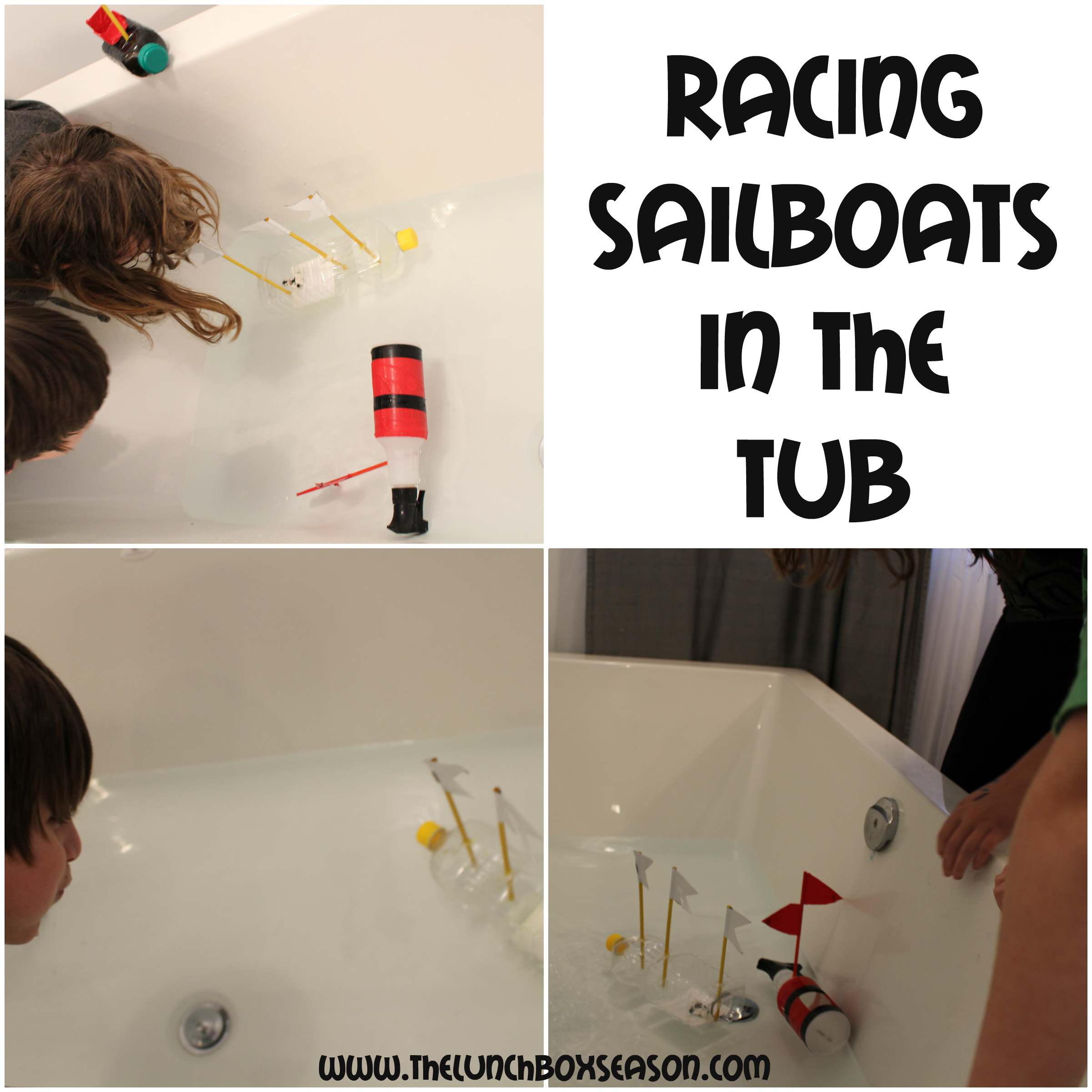 Racing Sailboats in the Tub