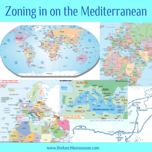 Zoning in on the Mediterranean - Kids learning with Maps!