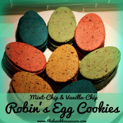 Mint Chip and Vanilla Chip Robin's Egg Cookies