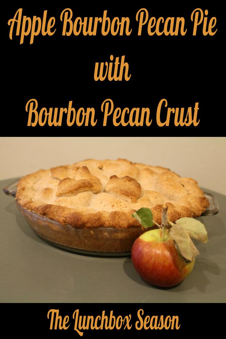 Apple Bourbon Pecan Pie with Bourbon Pecan Crust
