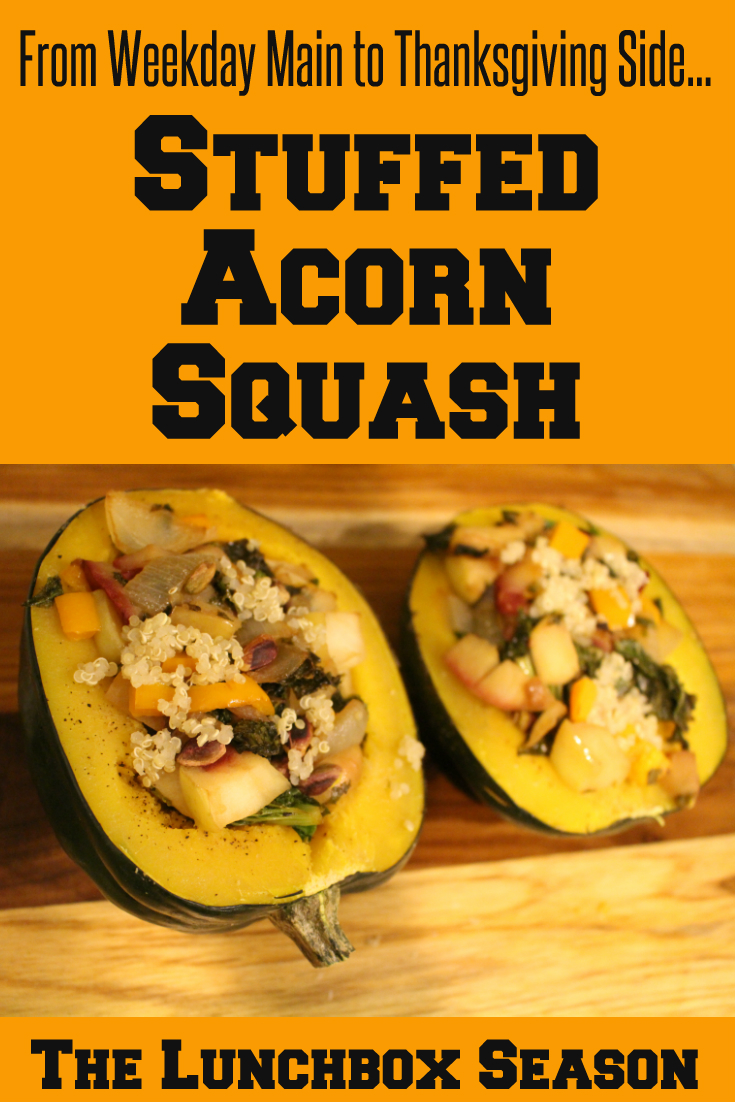 From Weekday Main to Thanksgiving Side...Stuffed Acorn Squash...a Flexible Recipe