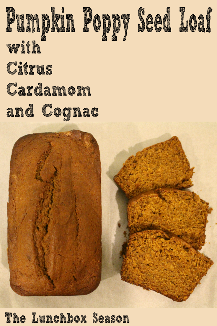 Pumpkin Poppy Seed Loaf with Citrus Cardamom and Cognac