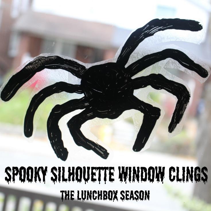Spooky Silhouette Window Clings Kids DIY