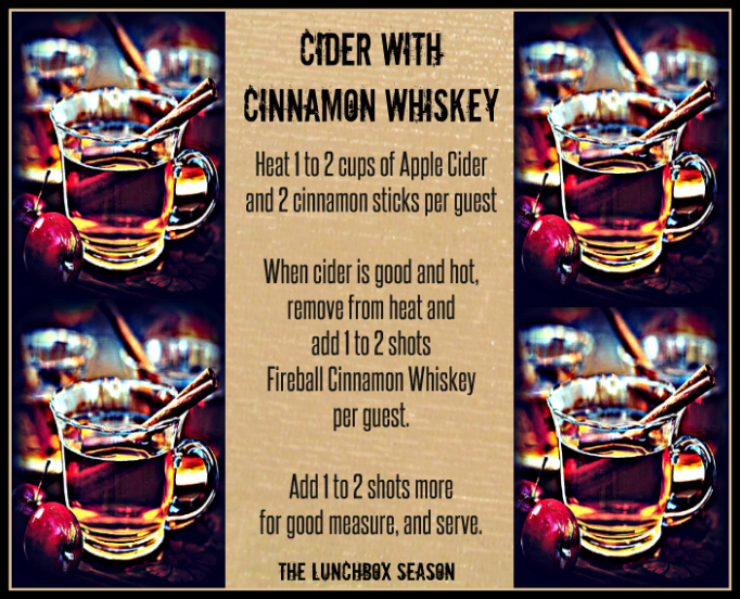 Cide with Cinnamon Whiskey