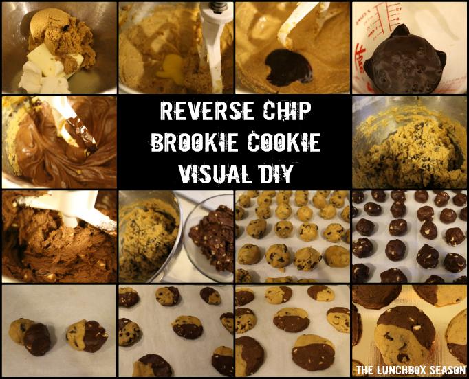 Reverse Chip Brookie Cookie Visual DIY
