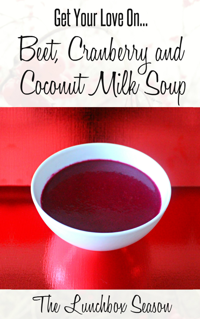 Beet Cranberry and Coconut Milk Soup