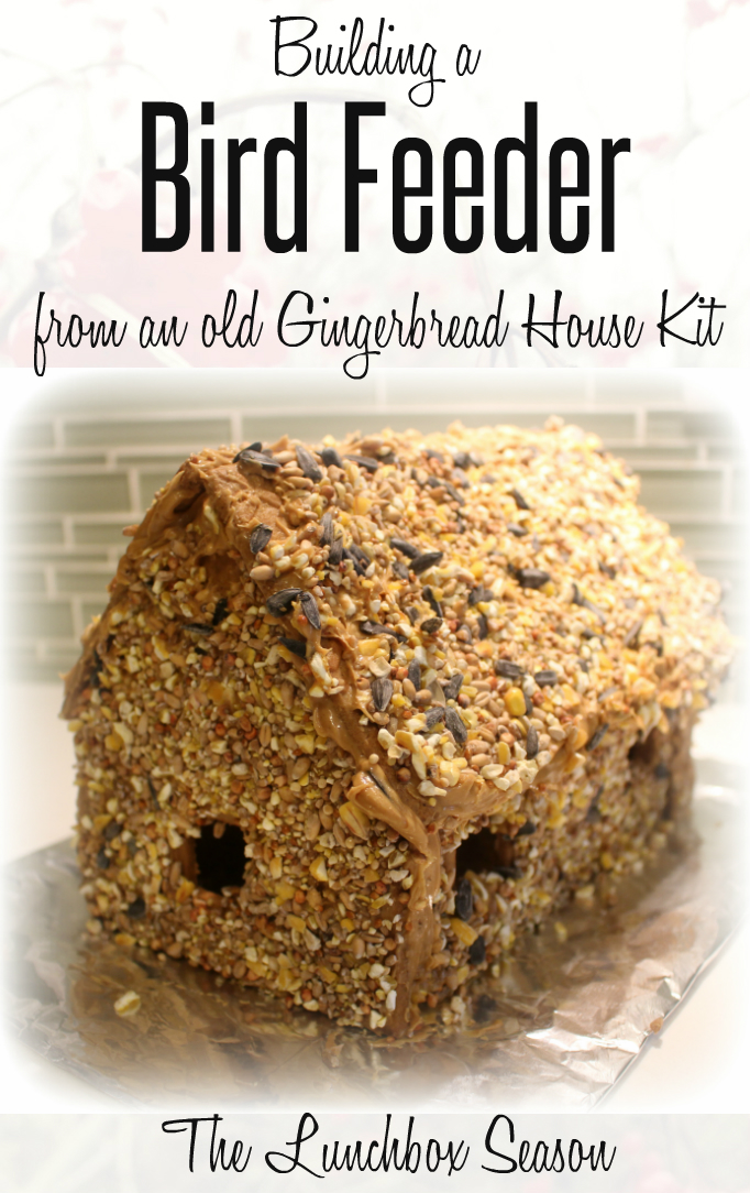Building a Bird Feeder from and old Gingerbread House Kit