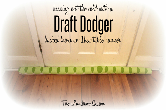 How to make a Draft Dodger out of an ikea table runner and dried beans or rice