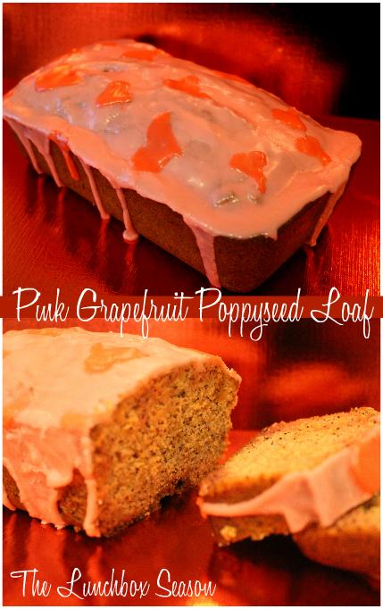 Pink Grapefruit Poppyseed Loaf Recipe