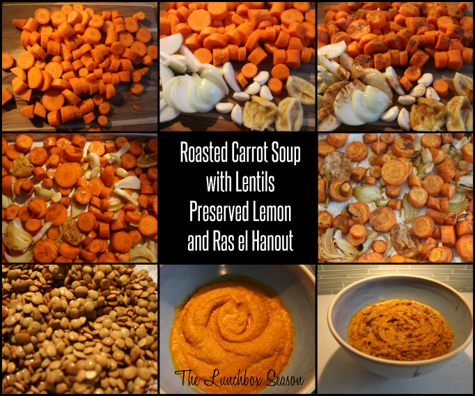 Visual DIY Roasted Carrot Woup with Lentils, Preserved Lemon and Ras el Hanout