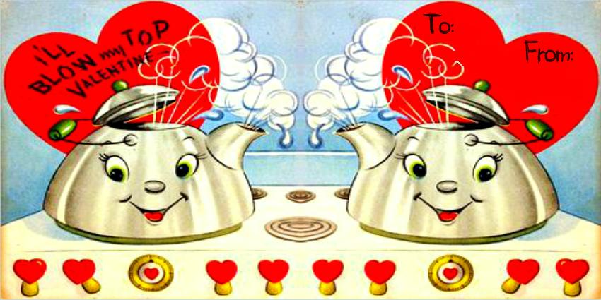 5. Tea Kettle Valentine Oven