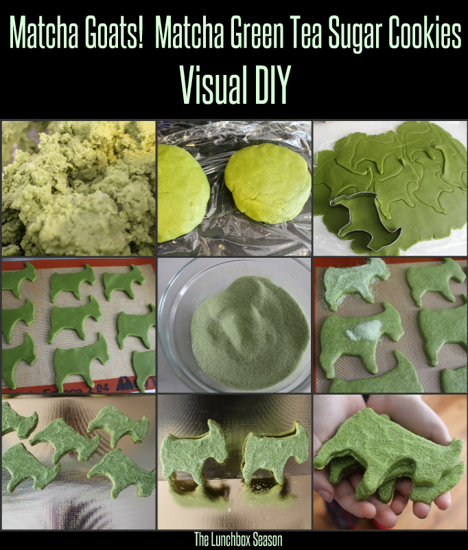 Matcha Green Tea Cookies Visual DIY