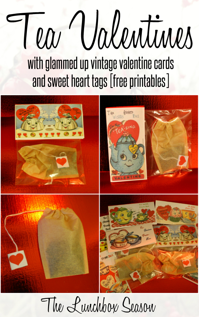 photo relating to Free Printable Vintage Valentine Cards identify Tea Valentines with Glammed Up Typical Valentine Playing cards and