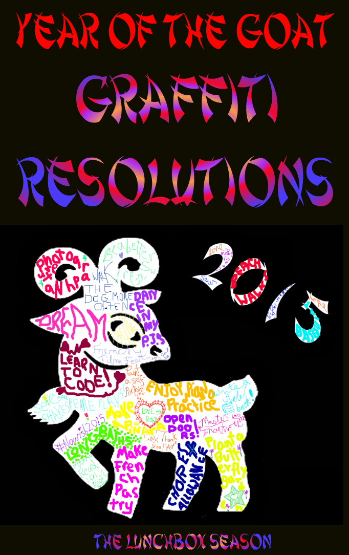 Year of the Goat Grafitti Resolutions with Free Printables The Lunchbox Season