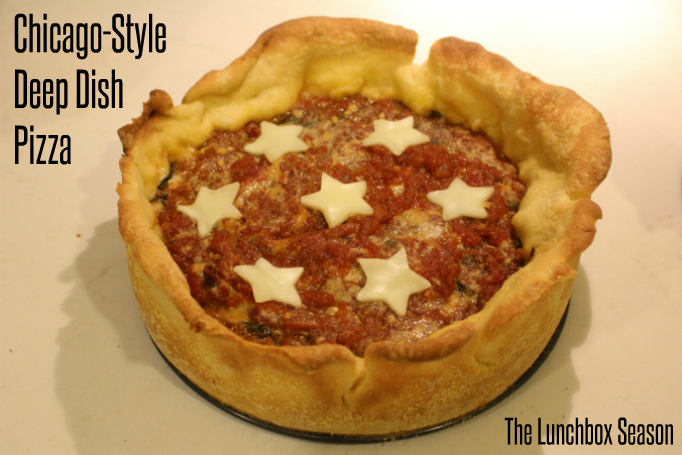 Chicago-Style Deep Dish Pizza Recipe from The Lunchbox Season