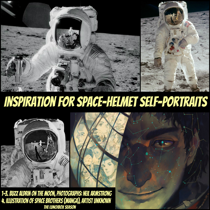 Inspiration for Space-Helmet Self-Portraits