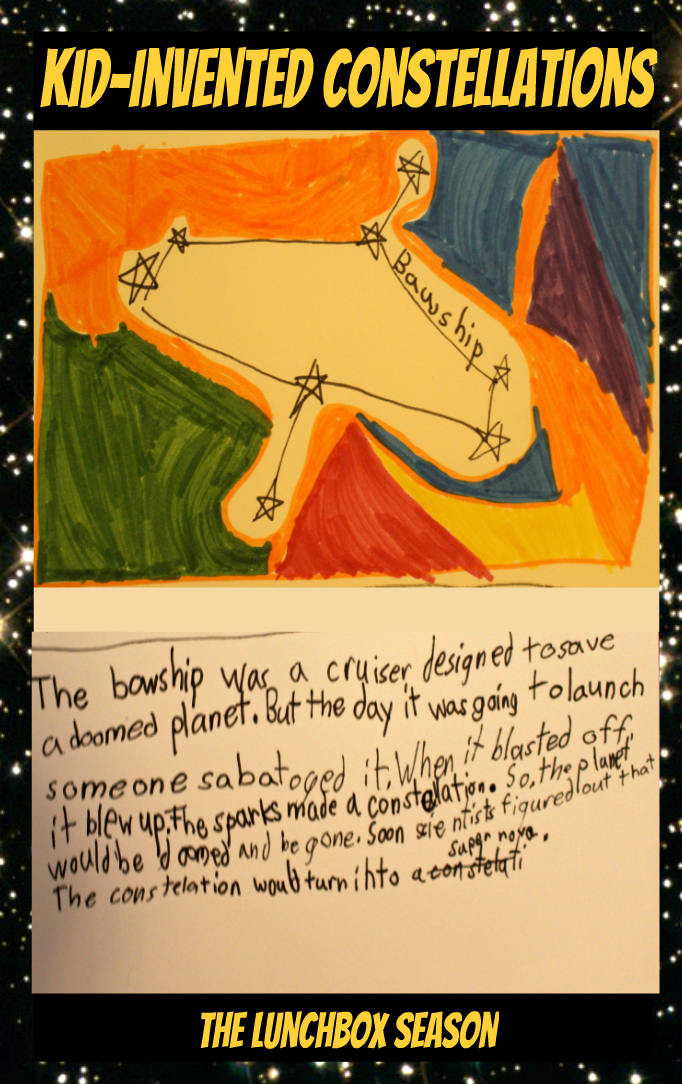 Kid-Invented Constellations from The Lunchbox Season - Toby's