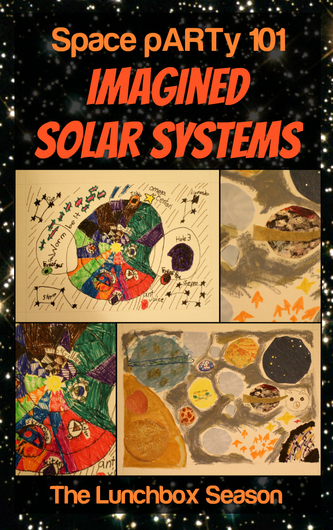 Space pARTy 101 Imagined Solar Systems - kids get to design and draw their own imagined galaxies - a fun art and science activity from The Lunchbox Season
