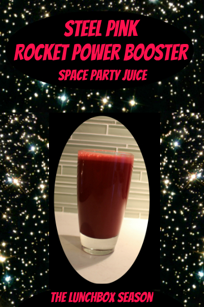 Steel Pink Rocket Power Booster Space Party Juice from The Lunchbox Season
