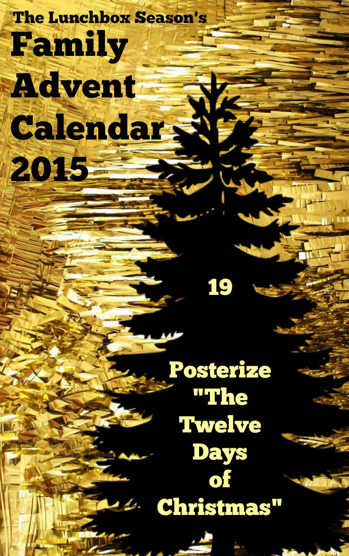19 Posterize the Twelve Days of Christmas