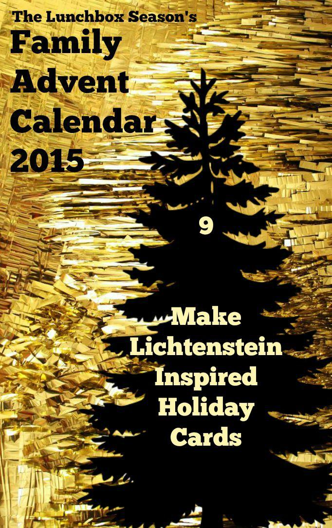 9 Lichtenstein Inspired Holiday Cards