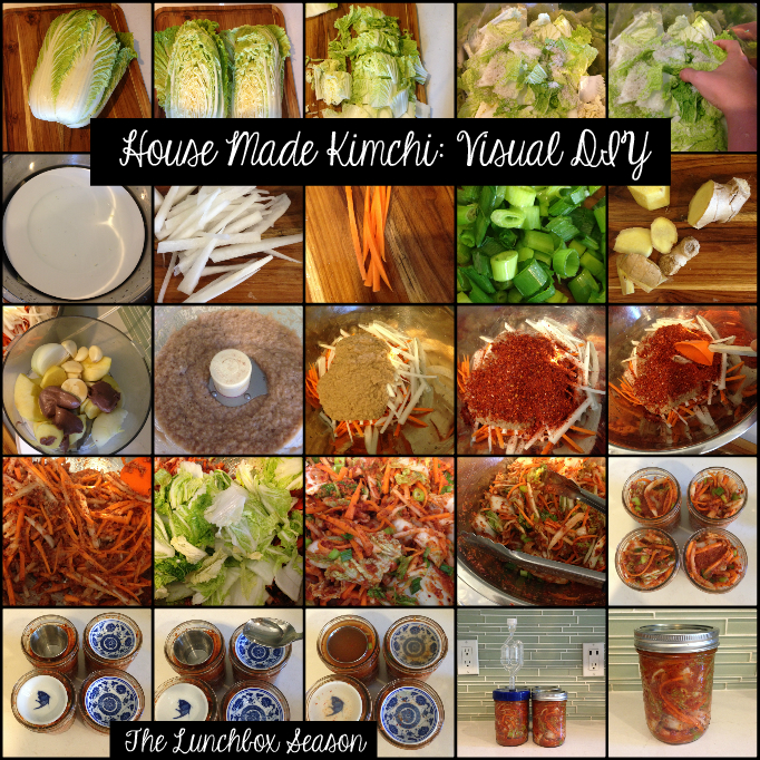 House Made Kimchi Visual DIY from The Lunchbox Season - Easy Recipe on the Site