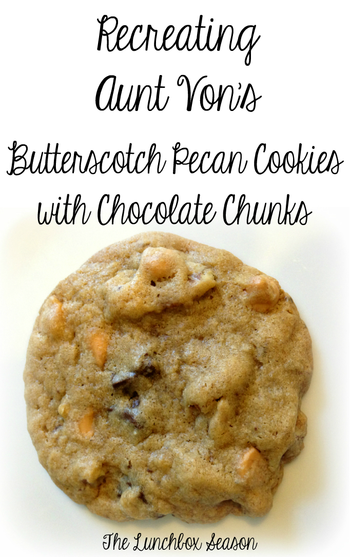 Recreating Aunt Von's Butterscotch Pecan Cookies with Chocolate Chunks, Goldfish Share Your Stories, The Lunchbox Season