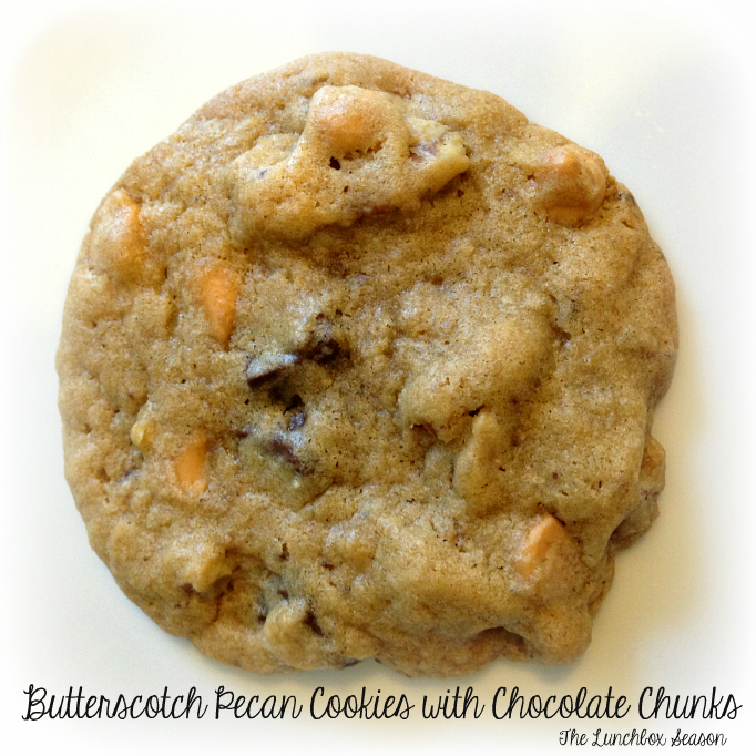 The Lunchbox Season's Butterscotch Pecan Cookies with Chocolate Chunks