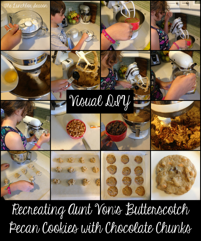 Visual DIY Recreating Aunt Von's Butterscotch Pecan Cookies with Chocolate Chunks