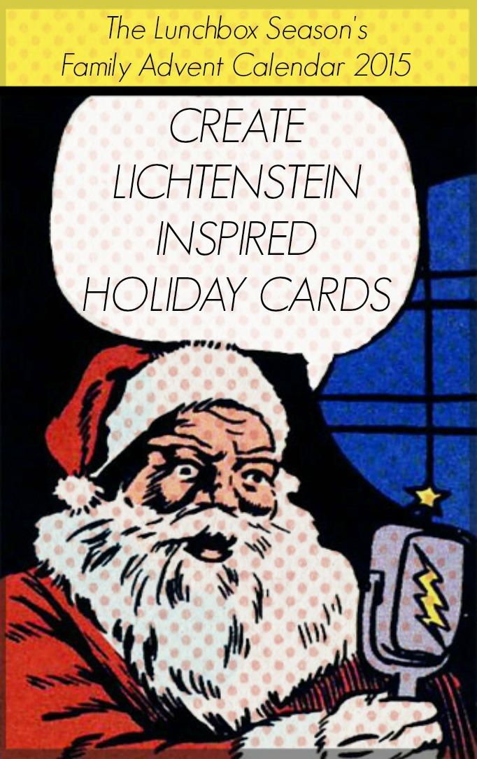 Create Lichtenstein Inspired Holiday Cards