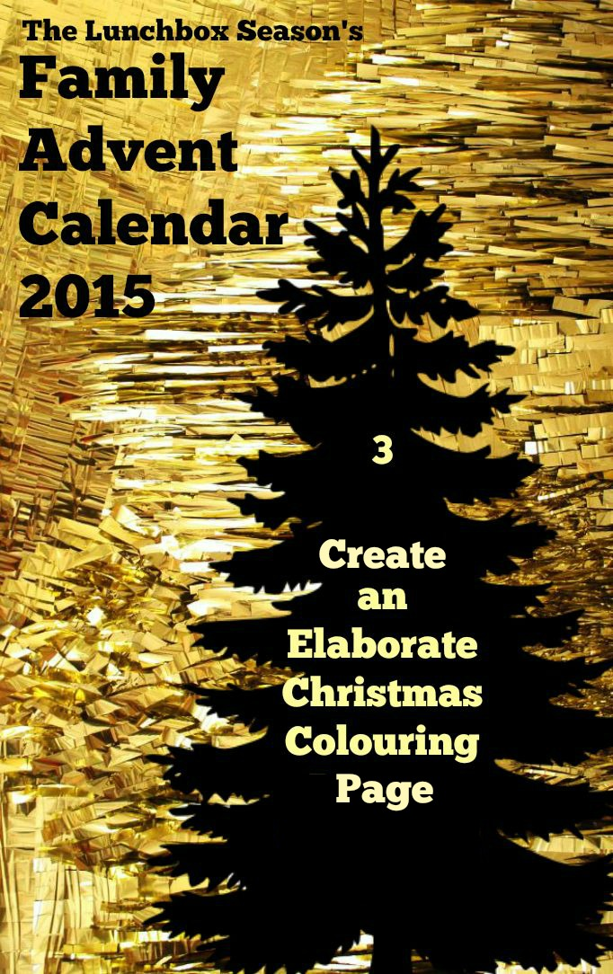 Create an Elaborate Christmas Colouring Page Advent Day three