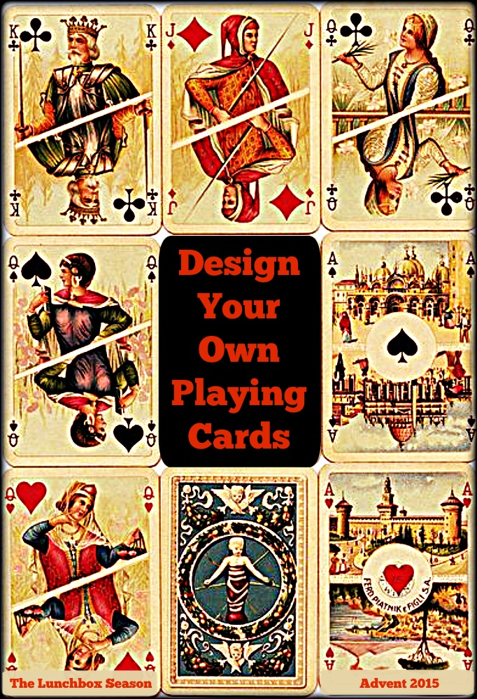 Design your own playing cards Advent 2015
