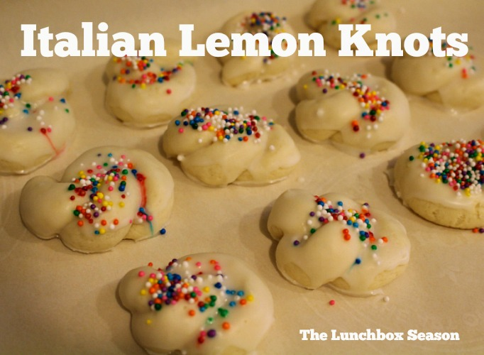 Italian lemon Knots from The LUnchbox season Recipe
