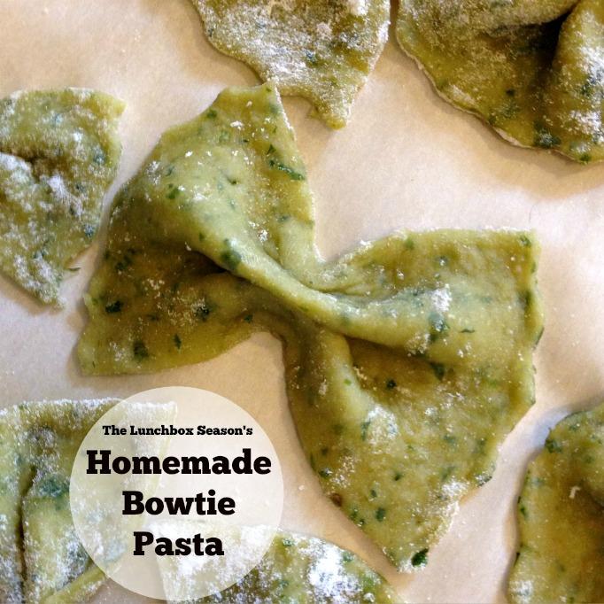thelunchboxseason's homemade bowtie pasta easy diy