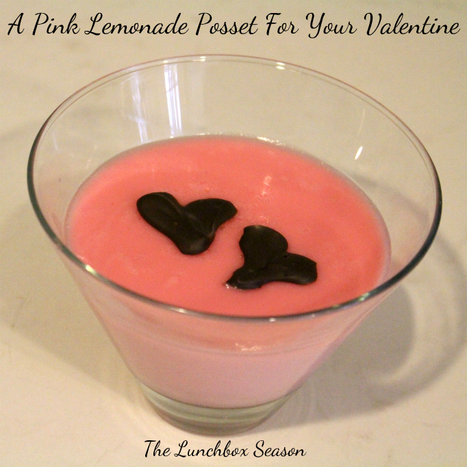 A Pink Lemonade Posset for your Valentine - Recipe on The Lunchbox Season
