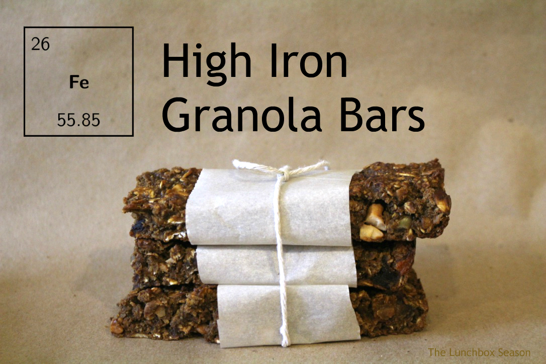 High Iron Granola Bars Gluten Recipe The Lunchbox Season