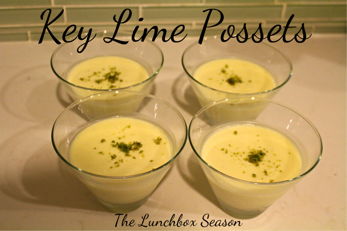 Recipe for Key Lime Possets from The Lunchbox Season Easy and Elegant