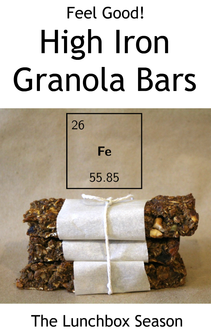feel good high iron granola bars gluten free recipe from the lunchbox season