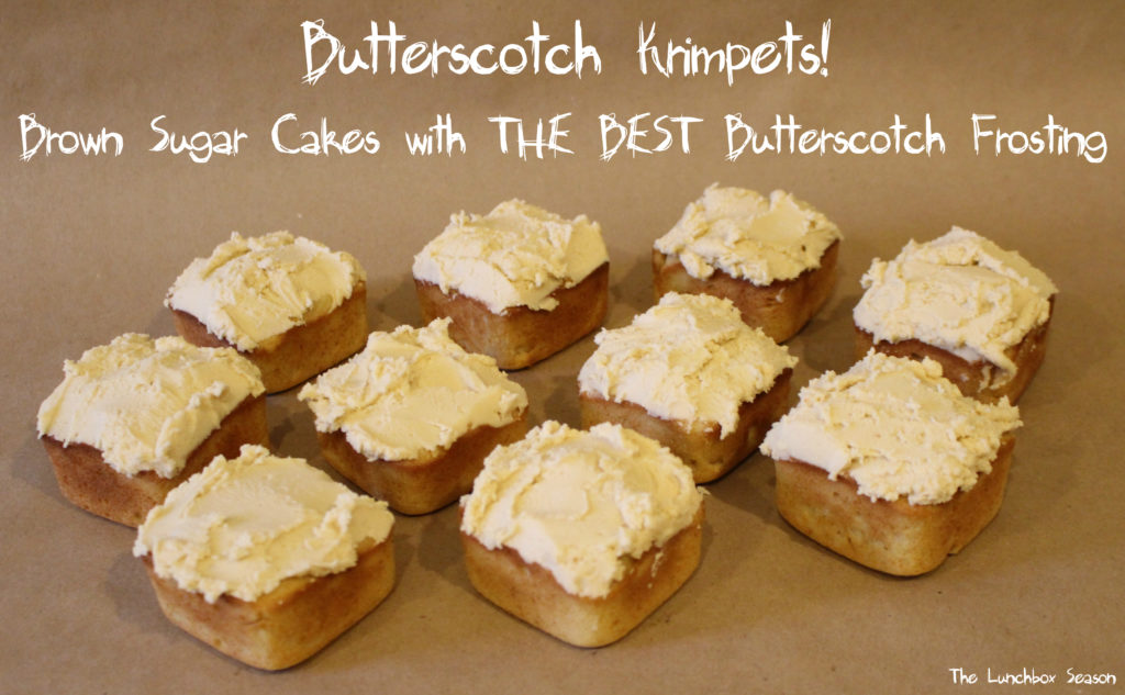Butterscotch Krimpets Recipe - Brown Sugar Cakes with THE BEST Butterscotch Frosting - Use this Butterscotch Icing Recipe with ANY baked good