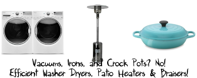 Mothers Day Gift Ideas Three - Washer Dryers Patio Heaters Braisers