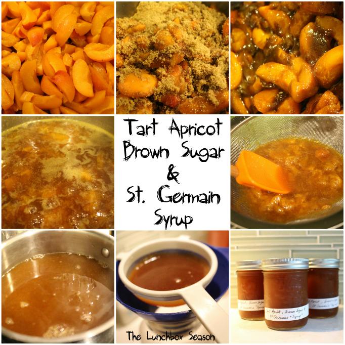 Tart Apricot Brown Sugar and St Germain Syrup Visual DIY