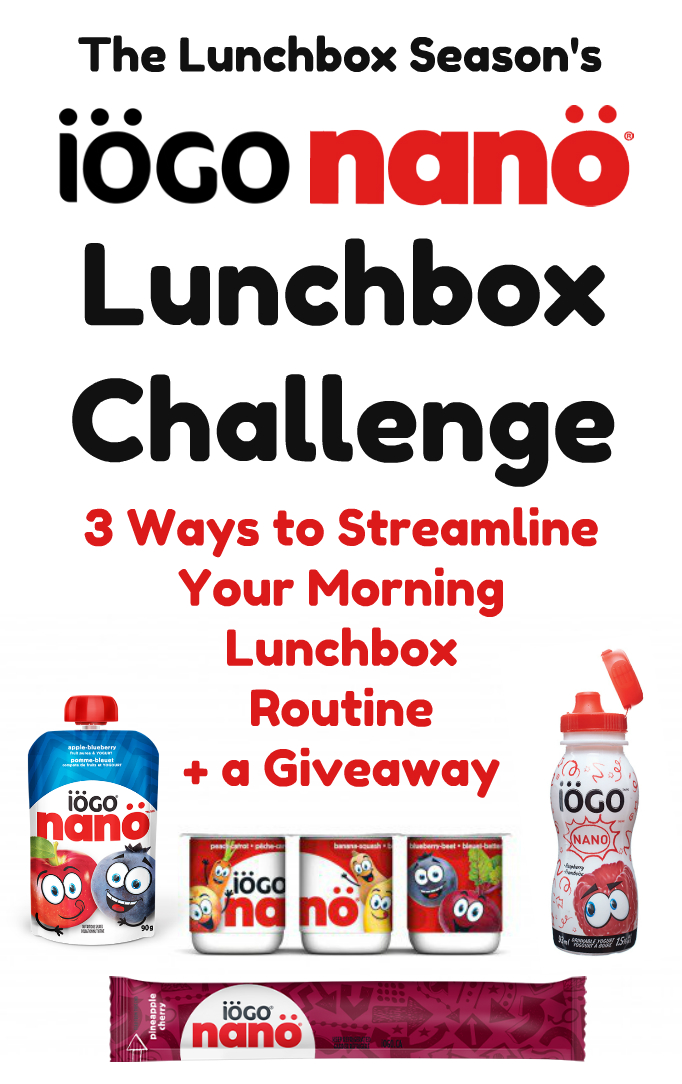 The Lunchbox Season's IÖGO nanö lunchbox challenge 3 ways to streamline your morning lunchbox routine + a giveaway