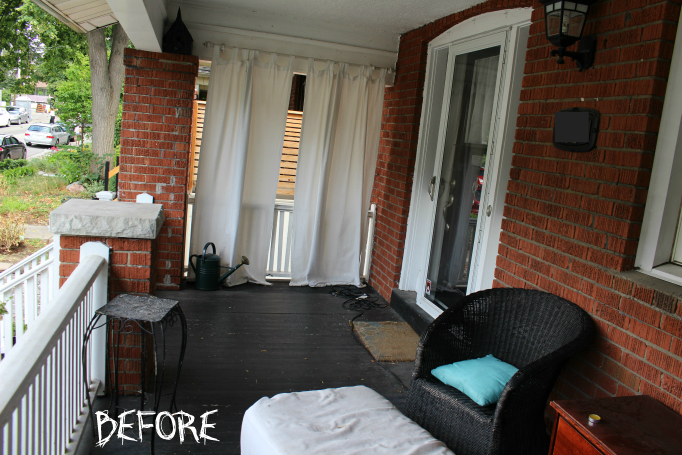 Front Porch Makeover BEFORE SHOT 2