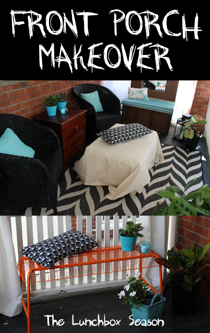 Front Porch Makeover The Lunchbox Season Budget Porch Makeover for Fall