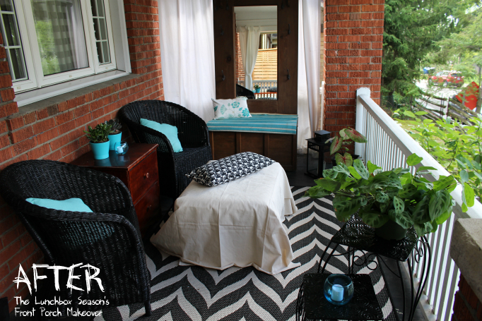 Front porch makeover AFTER 1 The Lunchbox Season