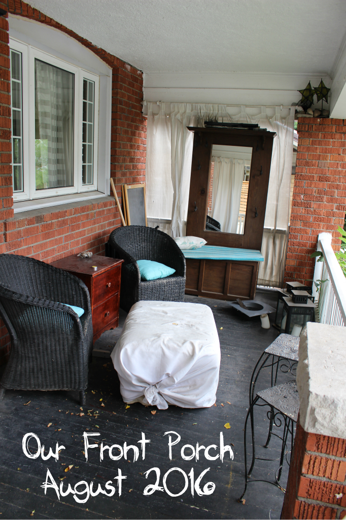 Our Front Porch 2016 Pre Makeover